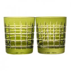 Szklanki kryształowe do whisky malowane 2 sztuki (10281)
