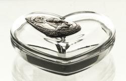 Bomboniera kryształowa serce Święta Rodzina (05880)