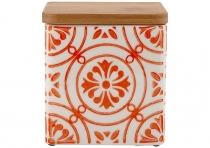 Ladelle Coventry Burnt Orange wzór 3 pojemnik do przechowywania żywności L61170