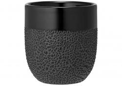 Ladelle Cafe kubeczek do kawy Textured Black L61769