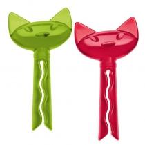 Klipsy do torebek zielono-czerwone 2 szt. Miaou KZ-5315001