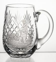 Kufel kryształowy do piwa z grawer wędkarz (13837)
