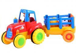 Traktor Przyczepa Zwierzątka Gra Świeci Odgłosy