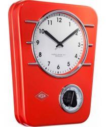 Zegar kuchenny z czasomierzem czerwony WESCO