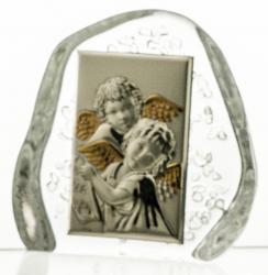 Skałka kryształowa aniołki na Chrzest (13684)