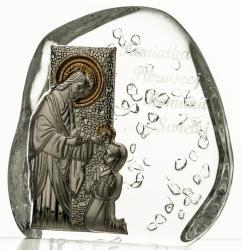 Skałka przycisk I Komunia Święta kryształ 3786