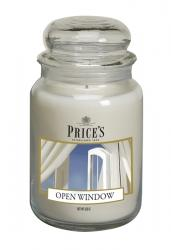Price's Candles zapachowa świeca w dużym słoiku - OPEN WINDOW