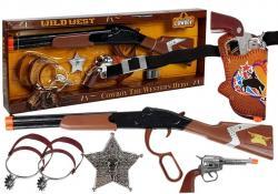 Zestaw Kowboja Kowbojski Pistolet + Akcesoria