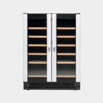 VESTFROST W 38 Silver door/black sides