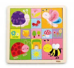Viga 50150 Kreatywne puzzle - życie w ogrodzie