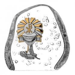 Skałka przycisk kryształ I Komunia Święta (10143)