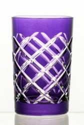 Szklanki kolorowe kryształowe do herbaty 6 sztuk (08229)