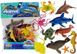 Zestaw Figurek Zwierzęta Morskie Gumowe 12 sztuk