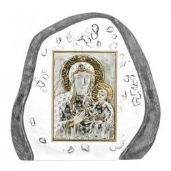 Skałka przycisk kryształowy Matka Boska Jasnogórska 5106