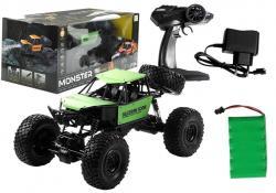 Auto Zdalnie Sterowane Monster Truck na resorach Zielony