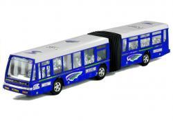 Autobus Przegubowy Friction Duży 41,5 cm Niebieski