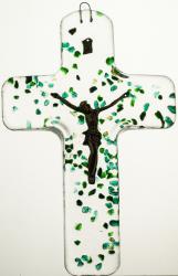 Krzyż wiszący kryształowy kolorowy 4584