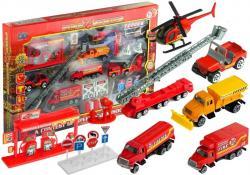 Duży Zestaw Pojazdów Strażackich 1:64 30 Elementów