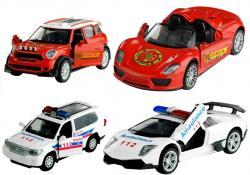 Autko Policja Straż Pożarna Metal Świeci Gra 1:32