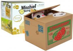 Skarbonka Kot Nauka Oszczędzania Winogrono