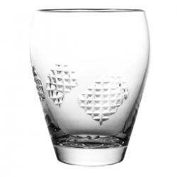 Szklanka do soku drinków kryształowa łatki