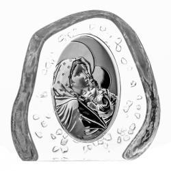 Przycisk kryształowy Matka Boska z Dzieciątkiem 4504