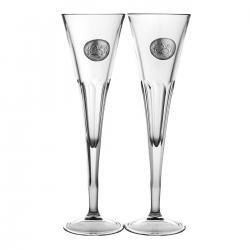 Kieliszki do szampana Srebrne Gody 25 lat 2 sztuki (05861)