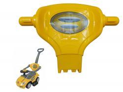 Oparcie do jeździka Coupe Megacar żółte