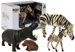 Zestaw Figurek Zwierzęta Afryka Hipopotam Zebra