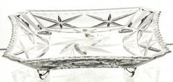 Talerzyk na nóżkach kryształowy na ciasto i przystawki (11713)