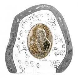 Skałka przycisk kryształowa Madonna 3130