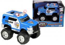 Małe Auto Terenowe Policja Straż Światło Dźwięk