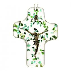 Krzyż wiszący kryształowy kolor 4639