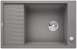 BLANCO ELON XL 6 S-F Silgranit PuraDur Alumetalik odwracalny, korek auto., InFino, kratka ociekowa