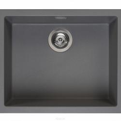 Zestaw REGINOX - zlewozmywak Amsterdam 50 grey silvery + bateria Spring Stainless Steel