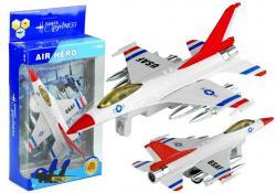 Biały Odrzutowiec USAF Jeździ Świeci Gra 1:80