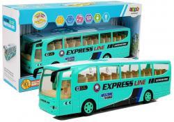 Autobus Wycieczkowy na Baterie Turkusowy 30cm