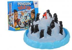 Rodzinna Gra Wspinające Się Pingwiny Na Lodzie