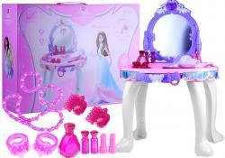 Toaletka Dla Dziewczynki + Akcesoria + Świeci Gra