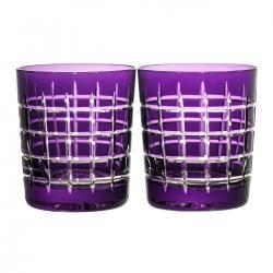 Szklanki kryształowe do whisky malowane 2 sztuki (10276)