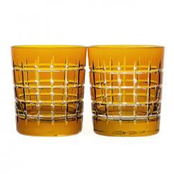 Szklanki kryształowe do whisky malowane 2 sztuki (10277)