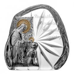 Skałka przycisk kryształowy I Komunia Święta (3405)