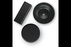 SCHOCK elementy w kolorze czarnego metalu do zlewozmywaków CRISTADUR