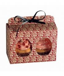 Opakowanie prezentowe na 2 muffinki Flora