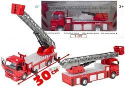 Duże Auto Metalowe Straz Pożarna 1:32 z Drabiną
