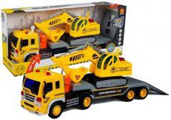 Auto Ciężarówka Laweta z Koparką Światło Dźwięki