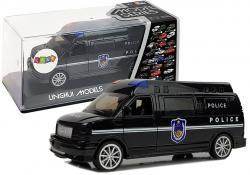 Auto Policja z Naciągiem ze światłami i dźwiękiem