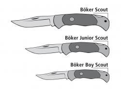 Nóż Boker Solingen Boy Scout Hirschhorn