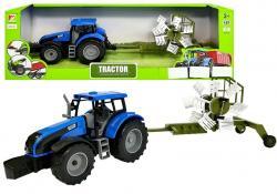 Traktor ze Zgrabiarką do Siana Czerwony