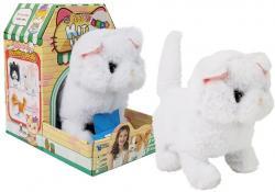 Interaktywny Kot Pers Biały Chodzi Rusza Ogonem na Baterie